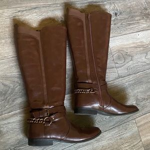 9 brown knee high boots unisa womens shoes winter